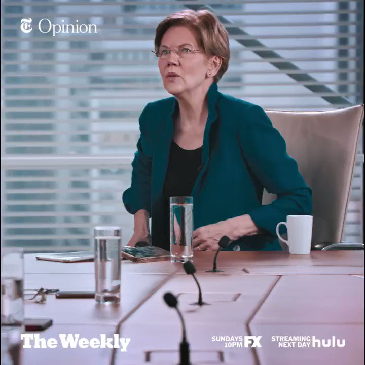 In @nytopinion | @SenWarren has emerged as a standard-bearer for the Democratic left. Watch her interview with The Times editorial board on a special endorsement episode of #TheWeeklyNYT on @hulu. https://hulu.tv/37b3hUG