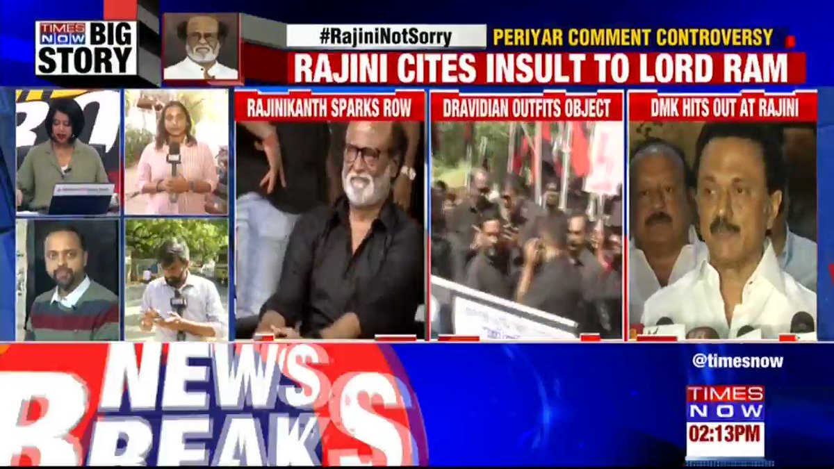 .@rajinikanth has spoken on an issue which is dear to the heart's of the Hindus: @Swamy39, BJP MP tells TIMES NOW. | #RajiniNotSorry
