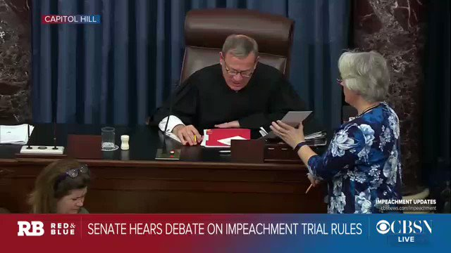 The Senate is adjourned from the impeachment trial until Wednesday, January 22 at 1pm ET