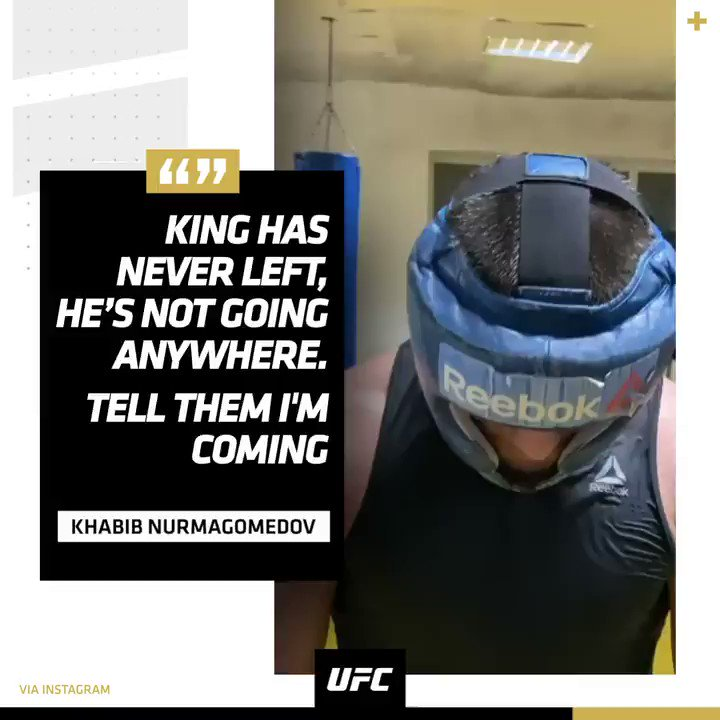 The lightweight king has a message 👑 (via @TeamKhabib)