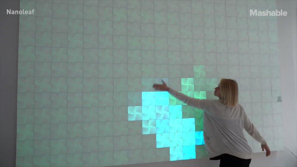 Image for the Tweet beginning: A cool #digital #art wall!