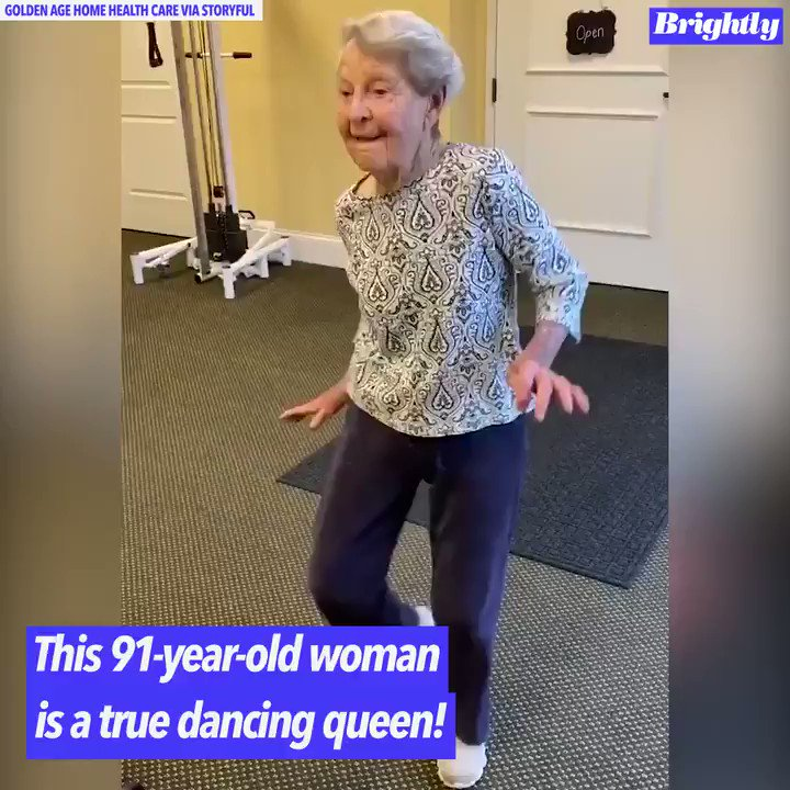 """This 91-year-old woman dancing to Elvis Presley's """"Jailhouse Rock"""" will make your whole day! https://abcn.ws/2RAeSWw"""