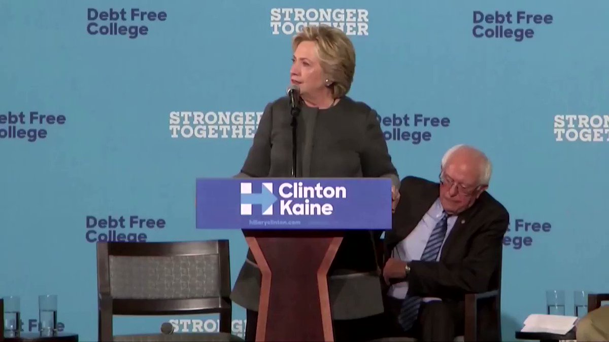 Hillary Clinton appeared to take back her critical comments about Bernie Sanders, saying she will support the eventual Democratic nominee