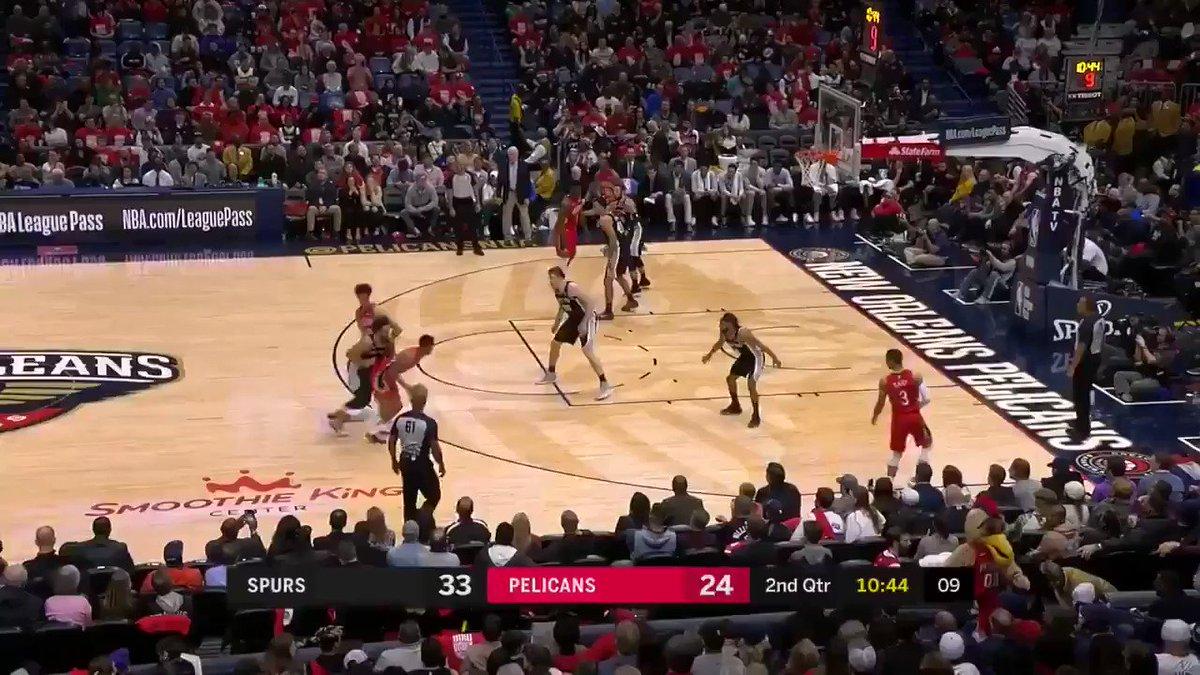 Zion gets his first NBA bucket ✅ via @PelicansNBA