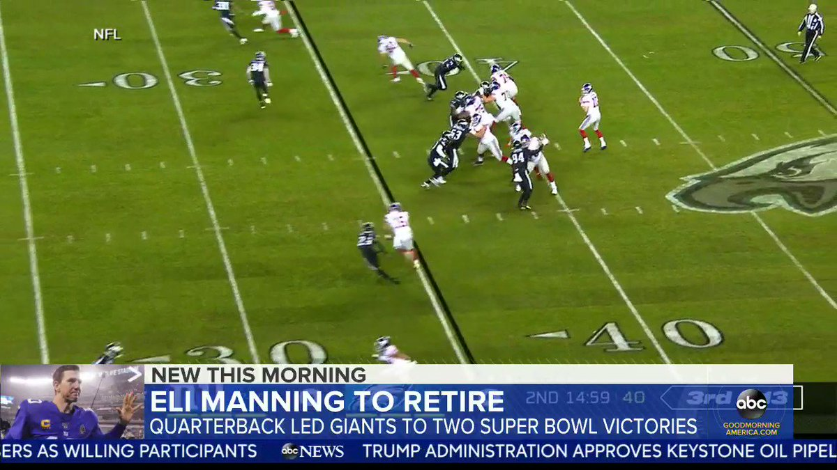 @GMA's photo on Eli Manning