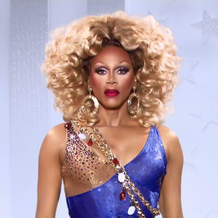 I pledge allegiance to the drag... 🇺🇸🏳️🌈 #DragRace S12 premieres FRI 2/28 at 8/7c on @VH1! 🏁💋