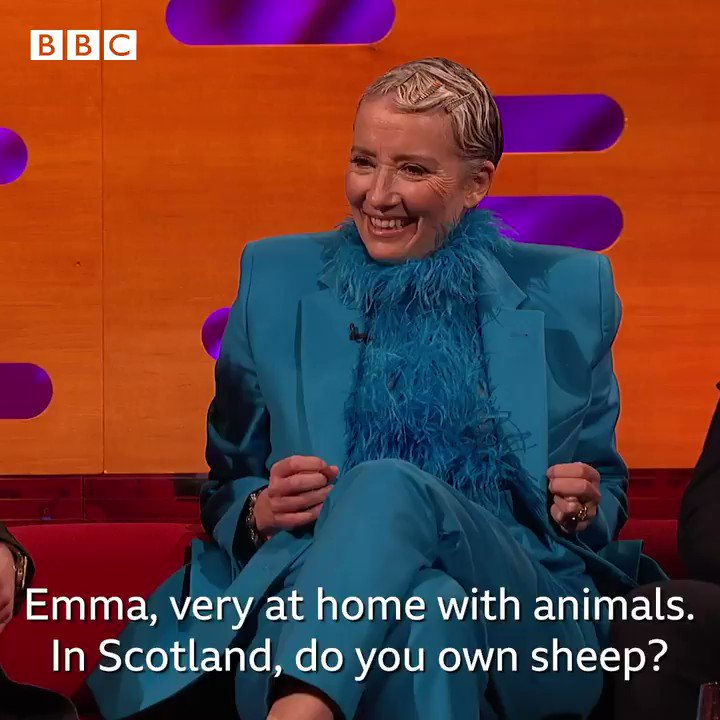The story of Emma Thompson's naked jaunt through a sheep field is the best thing you'll hear today. 😂#TheGNShow | 10.35pm | @BBCOne and @BBCiPlayer