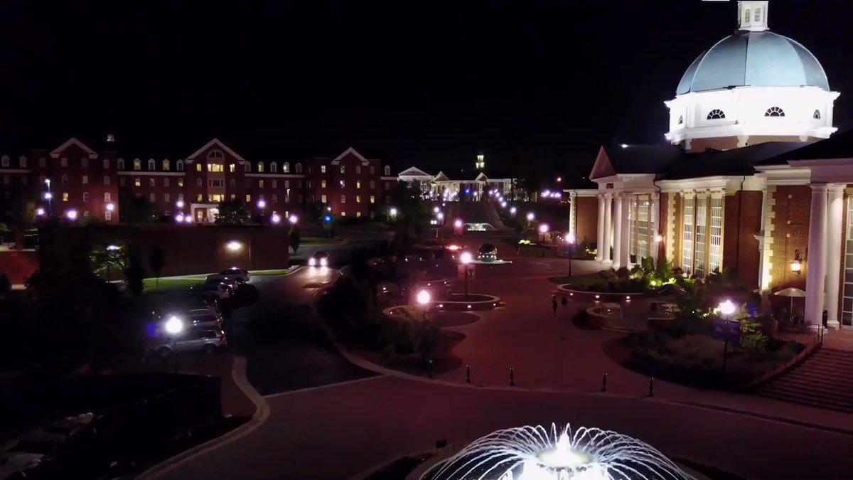 Night views = best views 😍💜 #HPU365 📍Cottrell Hall