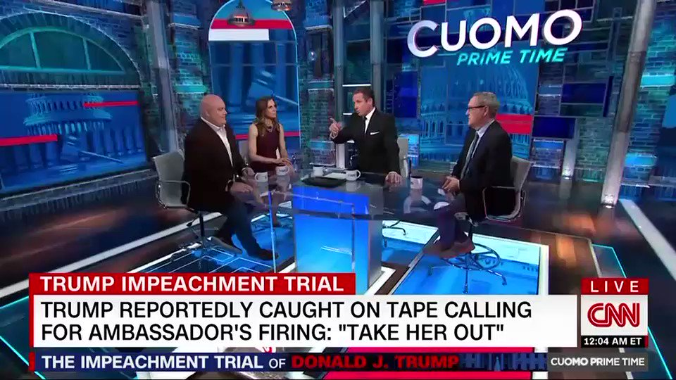 President Trump was reportedly captured on tape at a 2018 dinner with Lev Parnas and Igor Fruman demanding the firing of Marie Yovanovitch, who was then the US ambassador to Ukraine, according to an attorney for Parnas  https://cnn.it/2RpyvSr