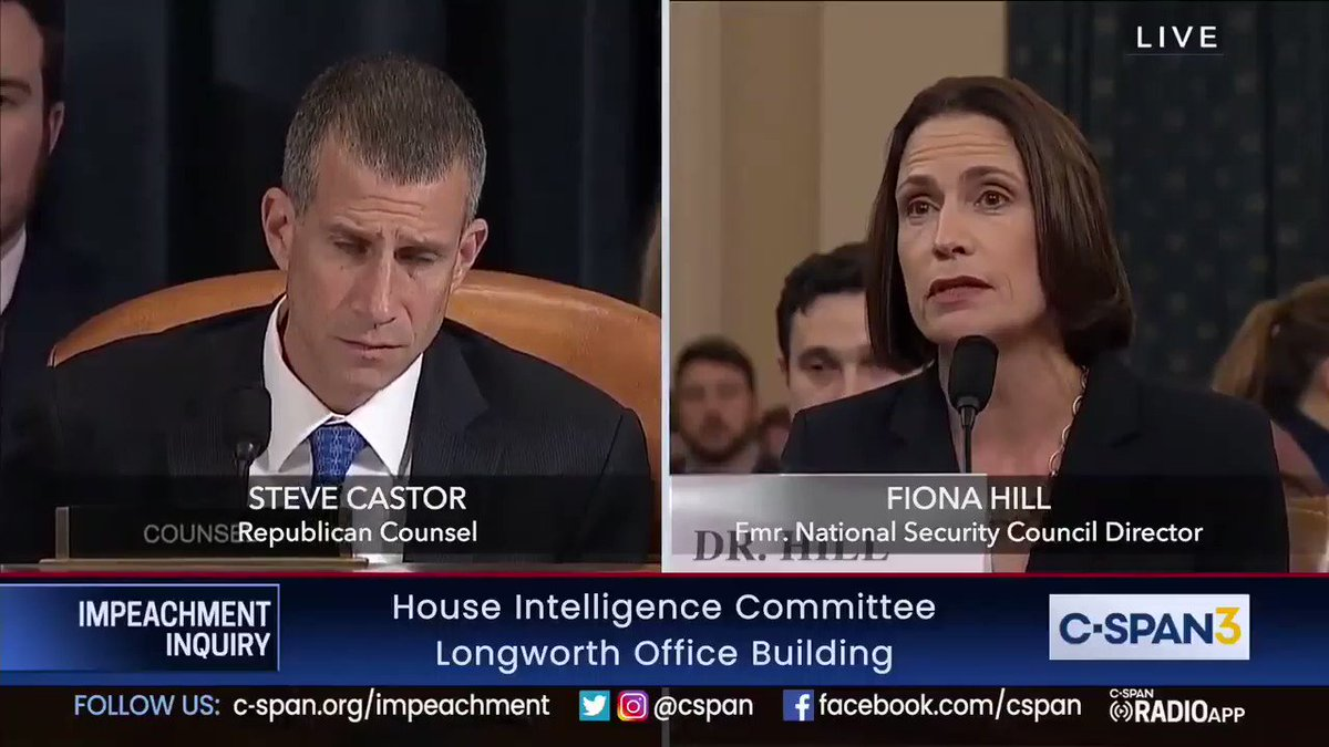 """White House claim: Fighting corruption was a priority of US policy in Ukraine  Reality: Trump undermined that policy.  Fiona Hill: [Sondland] was being involved in domestic political errand. And we were being involved in national security... those two things had just diverged."""""""