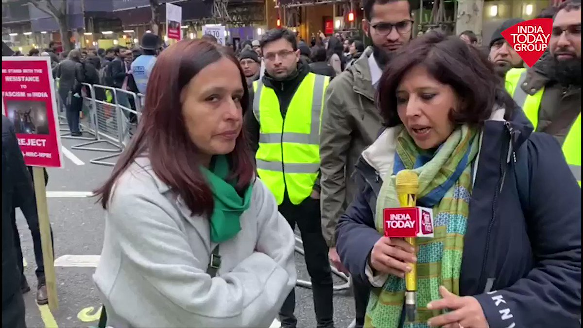 Protest against the CAA and NRC took place in London today. India Today's @loveenatandon has talked to one of the protesters to know what do they want from Indian government.#ReporterDiary More videos: http://bit.ly/IndiaTodaySocial …