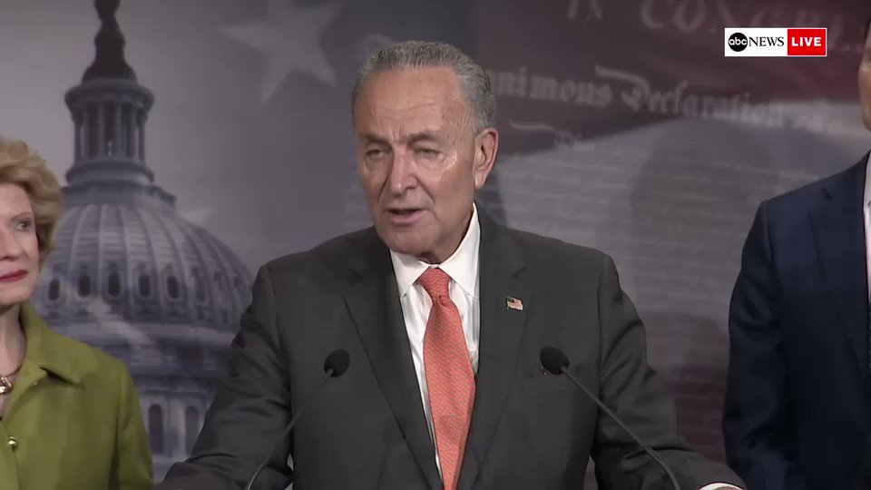 "Sen. Chuck Schumer says we're in ""better shape"" in fight for witnesses but he's ""not sure"" how the vote will go.""The enormous pressure from a president who we know is nasty and vindictive to anyone who opposes him is large. Ask Flake. Ask Corker."" http://abcn.ws/37AZyQi"