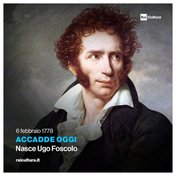 🗓 #AccaddeOggi Il #6febbraio 1778 nasce Ugo #Foscolo, drammaturgo e scrittore patriottico. #CondividiLaCultura 📚 #Letteratura