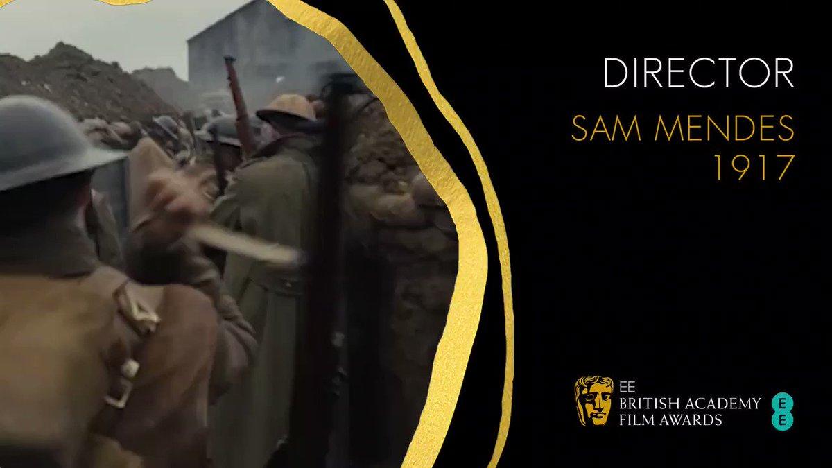 Congratulations to Sam Mendes, who takes home the Director BAFTA for @1917 🎬🏆 #EEBAFTAs #BAFTAs