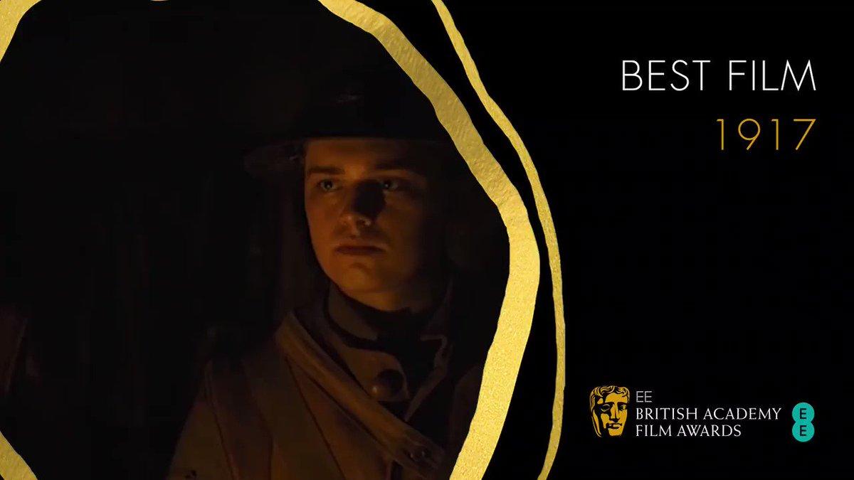And here we have it… the Best Film BAFTA goes to…@1917 🎥🏆 #EEBAFTAs #BAFTAs