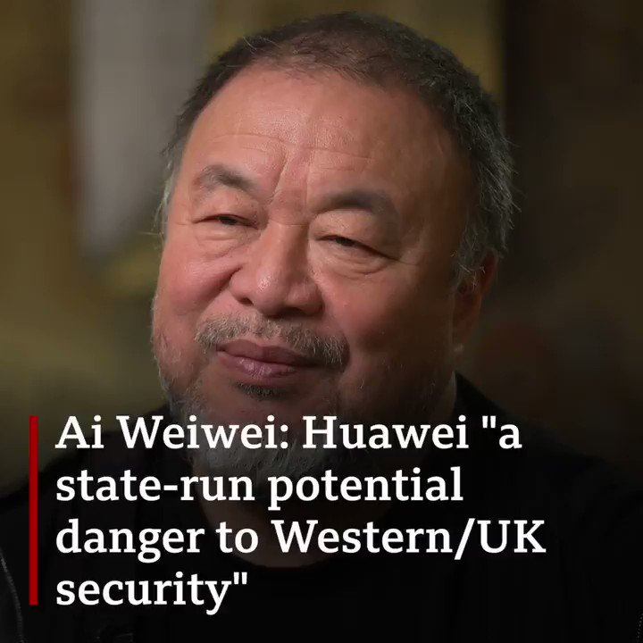 'I think the UK's decision is short-sighted...' Artist and dissident @aiww on Huawei.