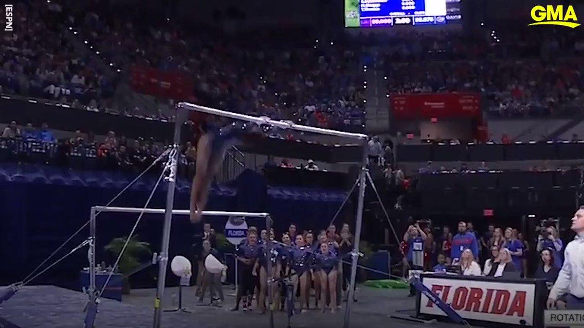 2020 Olympic gymnastics hopeful @Gym_Trin amazes with perfect 10 routine! gma.abc/3b6VbPd