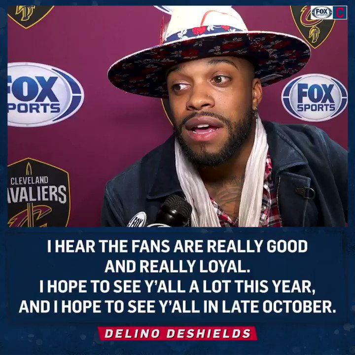 New @Indians addition @LinoDeShields is looking forward to playing ⚾️ in #TheLand