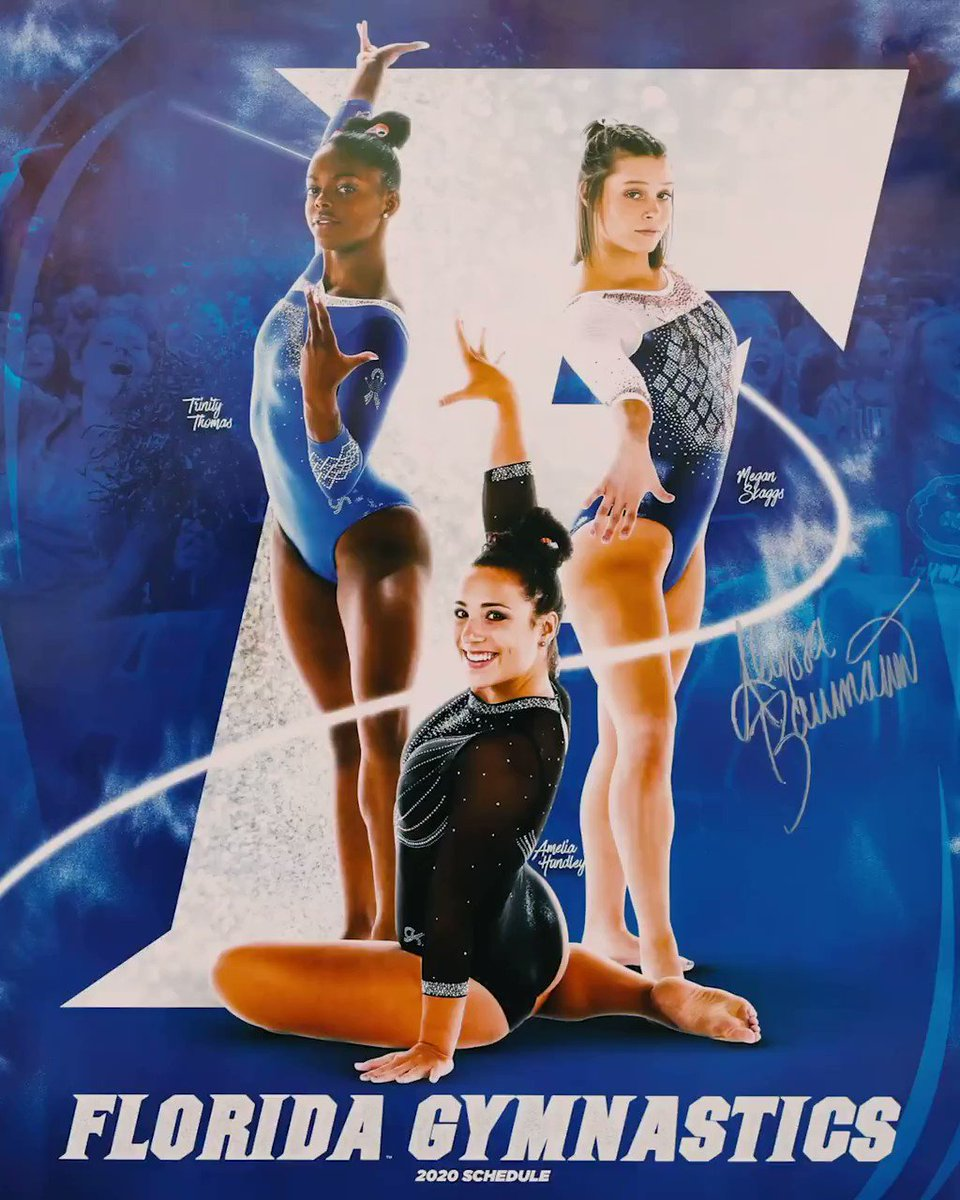 How great will this look on your wall?!? Get yours autographed by 🐊🤸♀️ after Fridays tri-meet: No. 2⃣ 🐊🤸♀️ 🆚 No. 4⃣ Denver and No. 1⃣8⃣ Iowa State Heres info youll need to join us! ⌚️ 6:45ET 📍 @OConnellCTR 🆓 🐊🤸♀️ socks 🧦 to first 1,000 🎟️- bit.ly/2PhYEBG