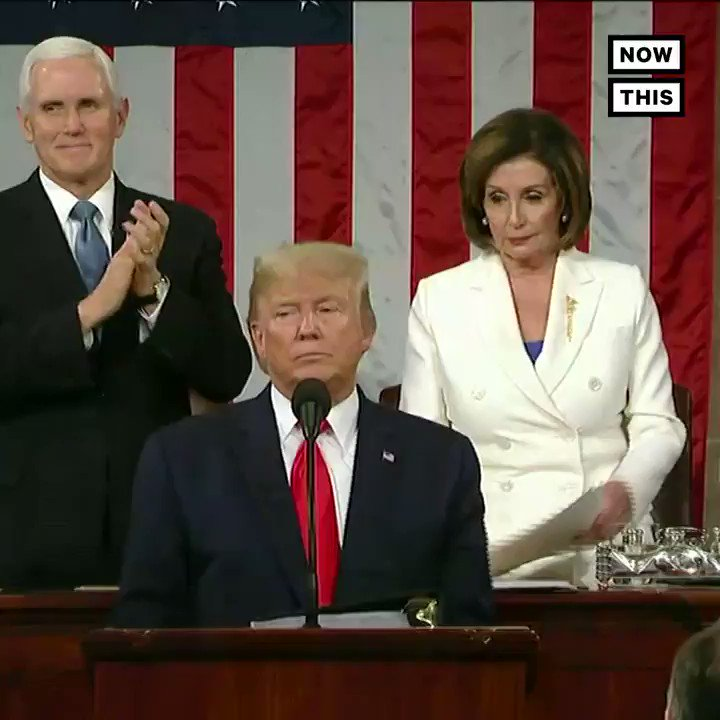Pelosi tore up Trump's #SOTU speech as soon as it ended 👀