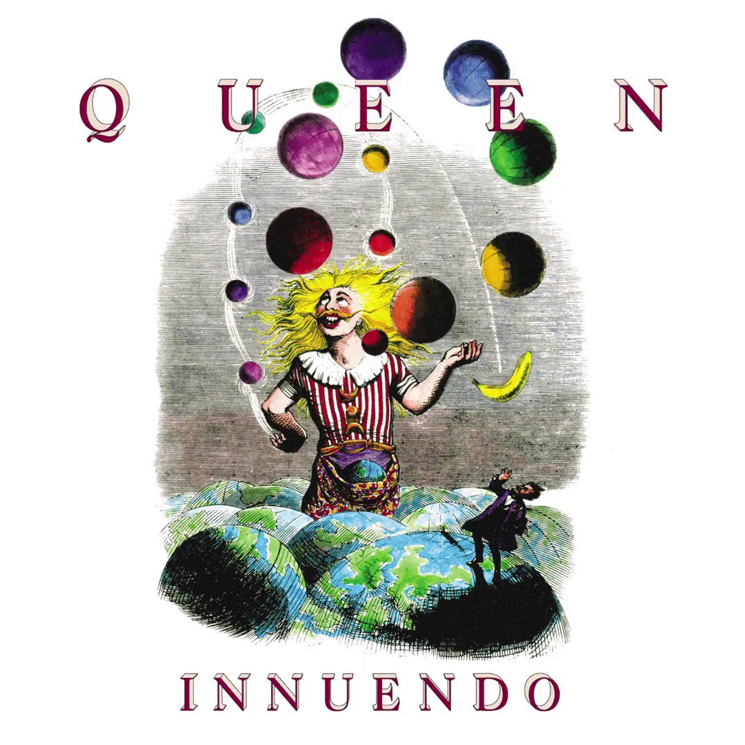 29 years of 'Innuendo'! 🎉It rose from beginnings as a 'jam session' to become the group's 14th album – and sadly the last with Freddie…👑More over at @uDiscoverMusic: https://www.udiscovermusic.com/behind-the-albums/queen-innuendo/…