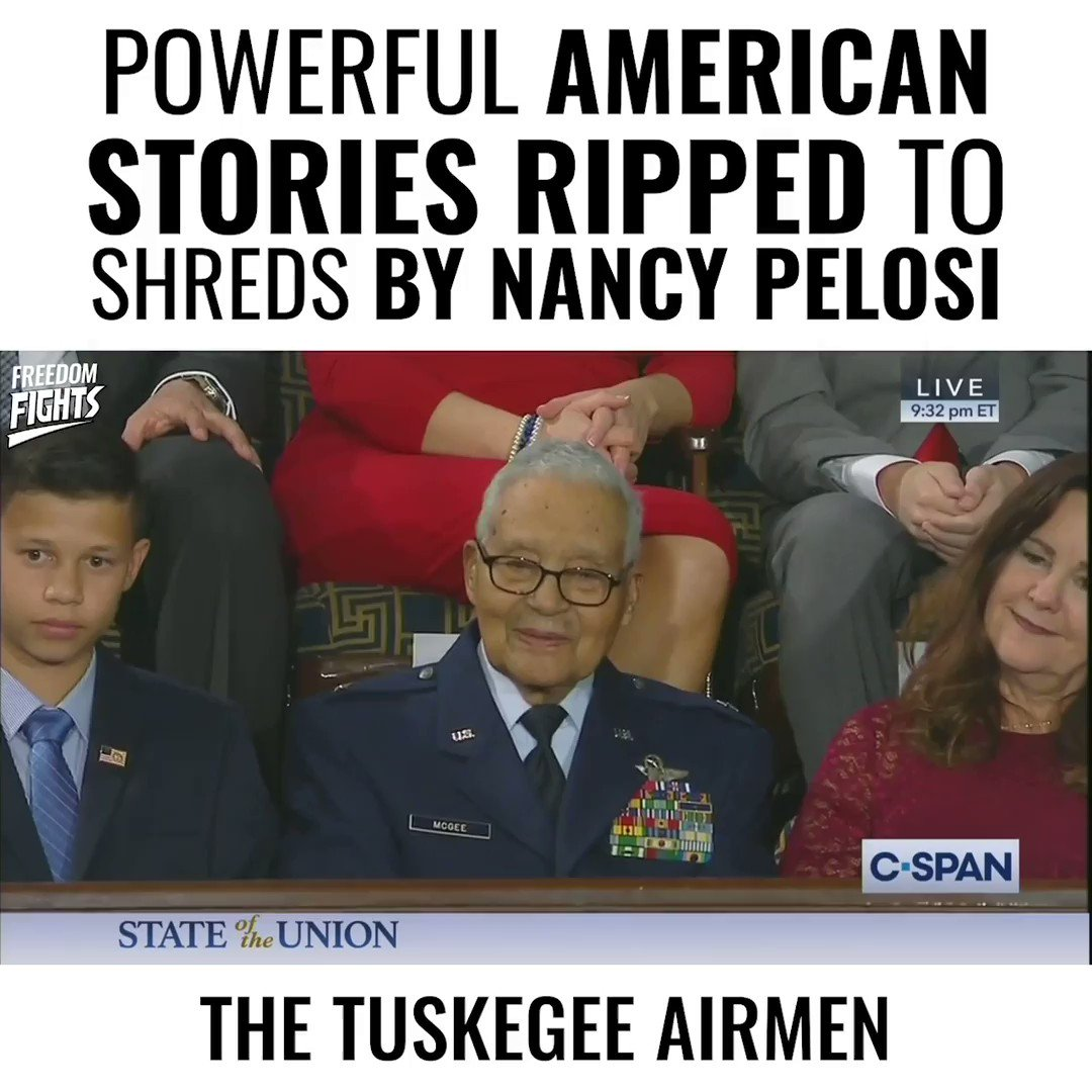 Pelosi ripped up @realDonaldTrump's speech last night.  In that speech were stories of American Heroes & American Dreams.  Their stories are more powerful than her hate.  We shredded her Impeachment.  Now let's all tear up the Democrat's chances in 2020