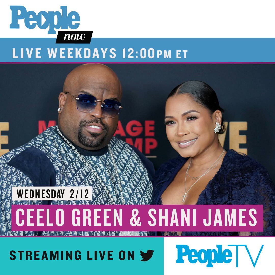 Today on #PeopleNow: @CeeLoGreen and Shani James! Watch — Weekdays 12pm ET/9am PT