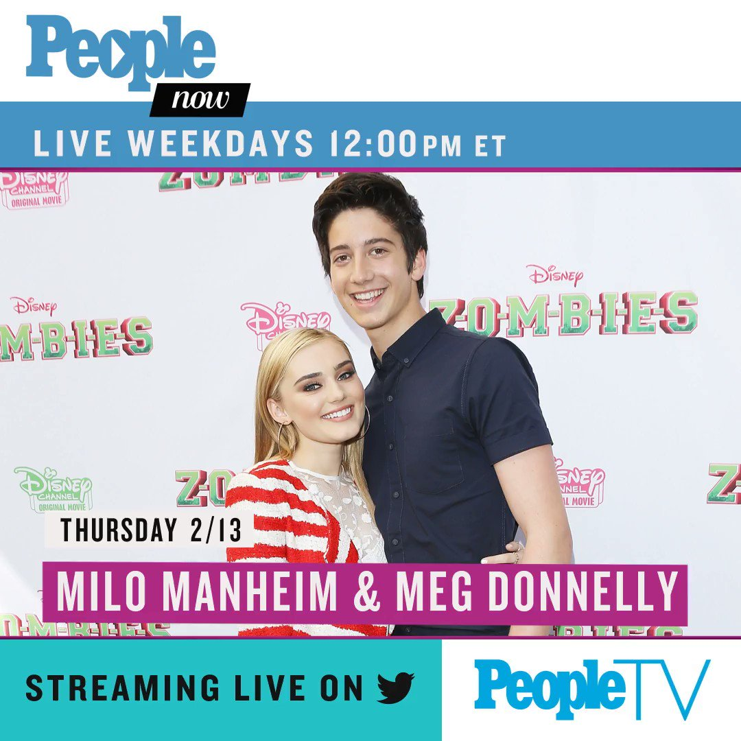 Today on #PeopleNow: @MiloManheim and @ImMegDonnelly! Watch — Weekdays 12pm ET/9am PT