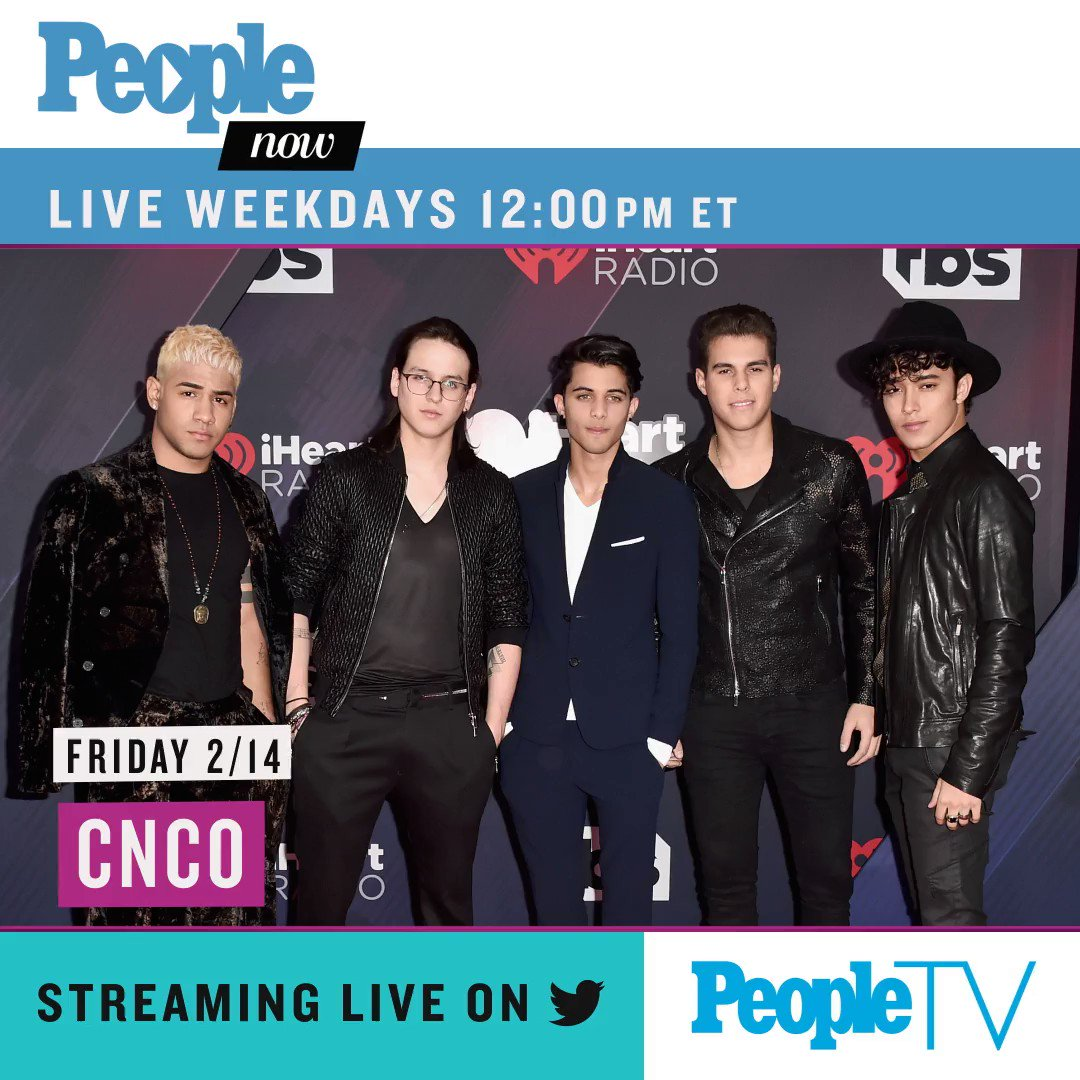 Today on #PeopleNow: @CNCOmusic! Watch — Weekdays 12pm ET/9am PT