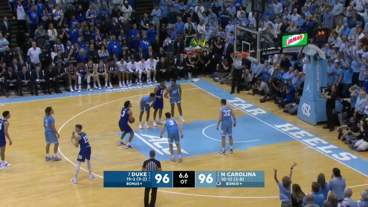 Replying to @SportsCenter: WOW! WHAT AN ENDING!  NO. 7 DUKE WINS IN STUNNING FASHION AGAINST UNC!