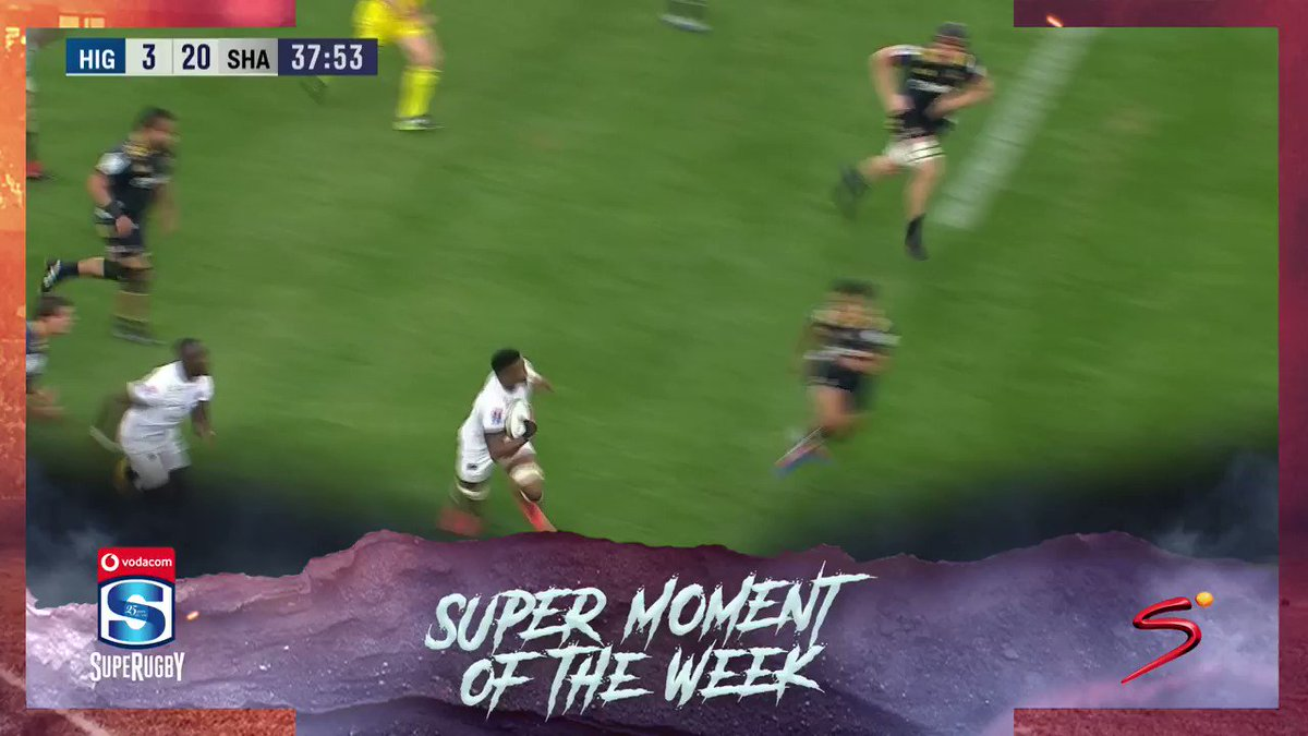 This weekends Super Moment of the Week comes from Makazole Mapimpi against the Highlanders in #SuperRugby action 🏉🏃♂️💨💥