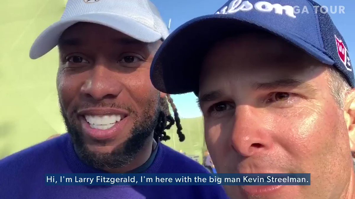 Double trouble. 🏆 @LarryFitzgerald and @Streels54 have won the pro-am portion of the @ATTProAm two of the last three years.