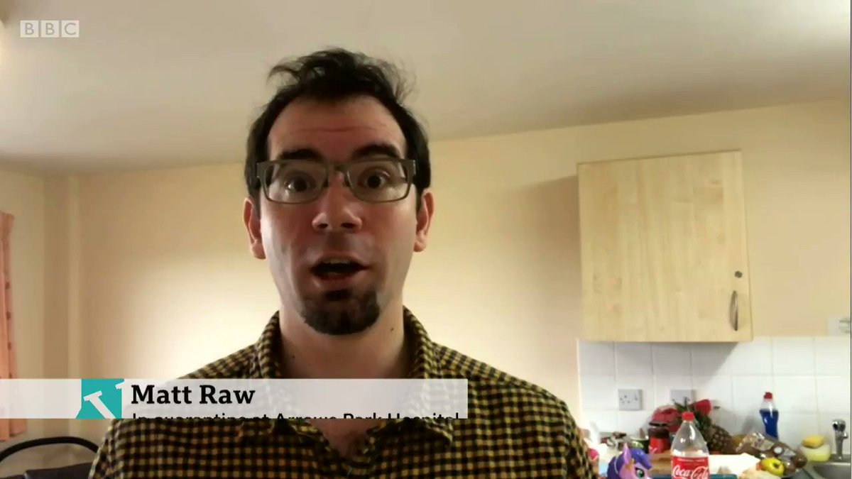 """""""Yesterday we were given a roast dinner. It makes us feel like we're not in quarantine"""" Matt Raw speaks to us from quarantine at Arrowe Park Hospital, saying staff are making it feel like were almost on holiday bbc.in/38ckb5S #VictoriaLIVE"""