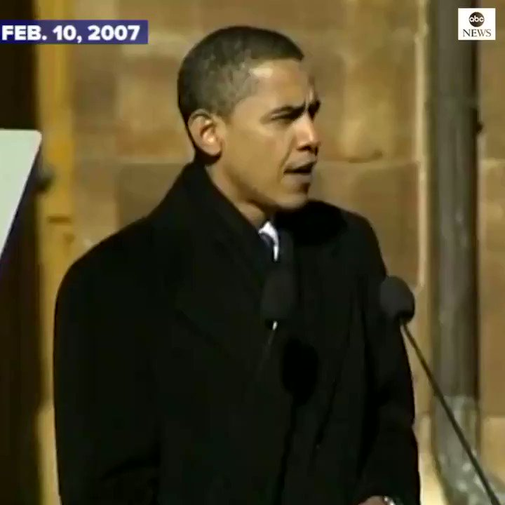TODAY IN HISTORY: On this day in 2007, Barack Obama announced he'd be running for president.