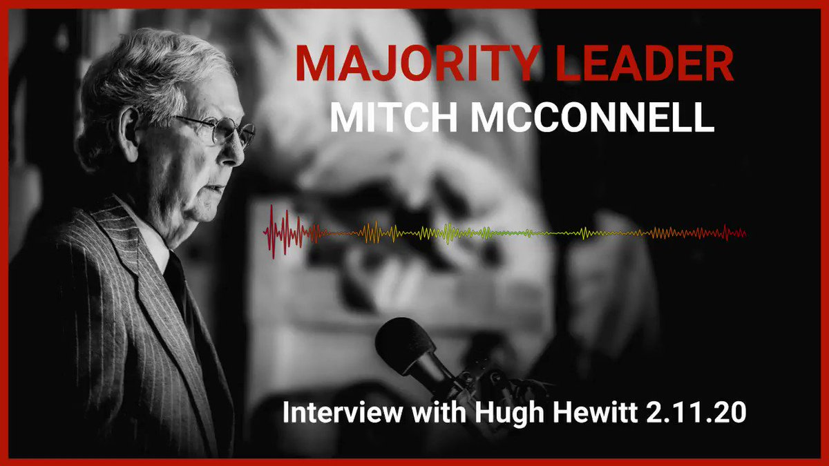 ICYMI 🎙️: This morning I joined @hughhewitt to discuss impeachment and judges. Listen below for excerpts: