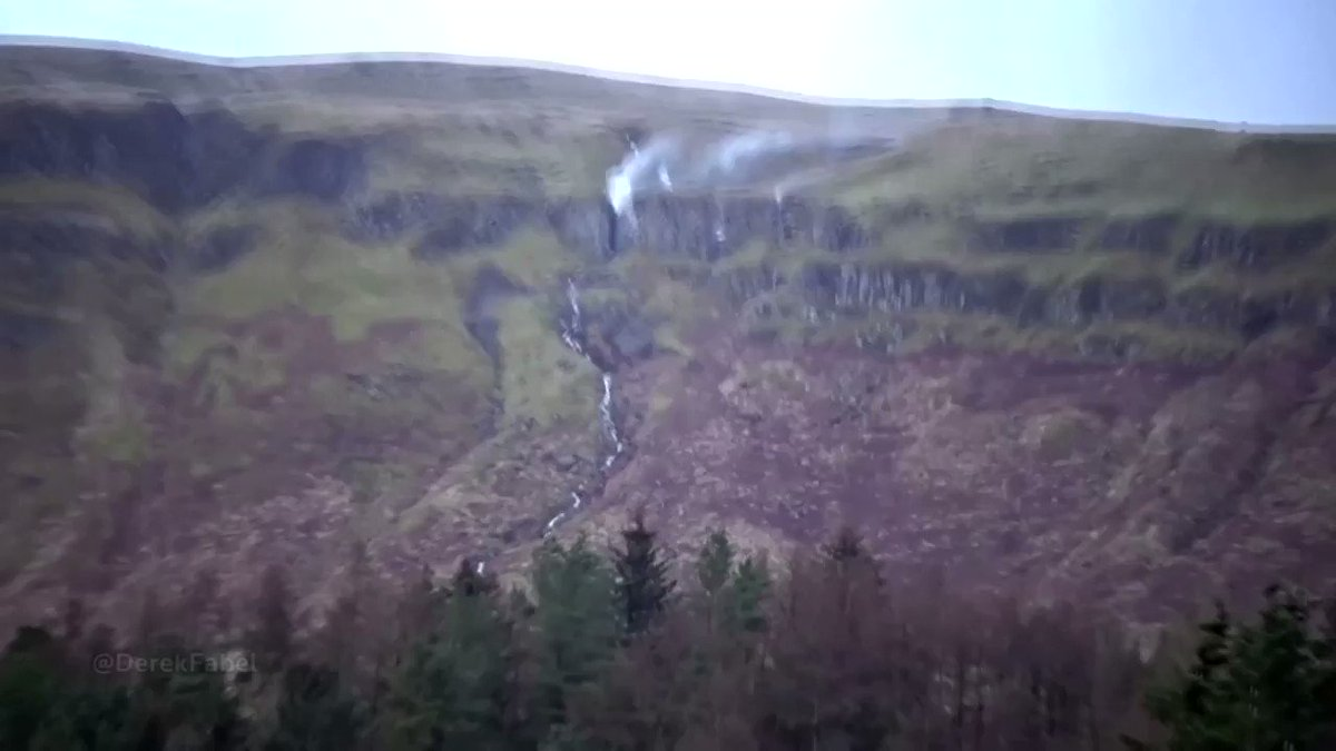 ICYMI: High-speed winds from Storm Ciara made Jenny's Lum waterfall in Scotland appear to flow upward