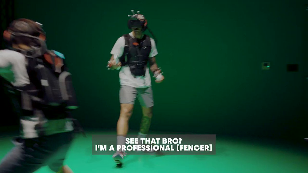 @MChamleyWatson: 1 #VR Fencing: 0 Peep ➡️ @redbullgaming for more! 🎮💥 #virtualreality