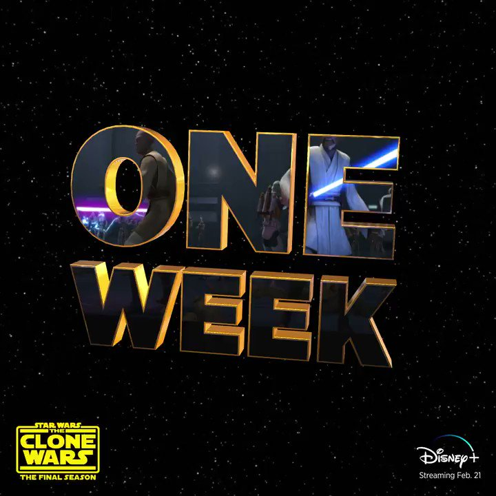 In one week, start streaming the final season of @StarWars: #TheCloneWars, only on #DisneyPlus.