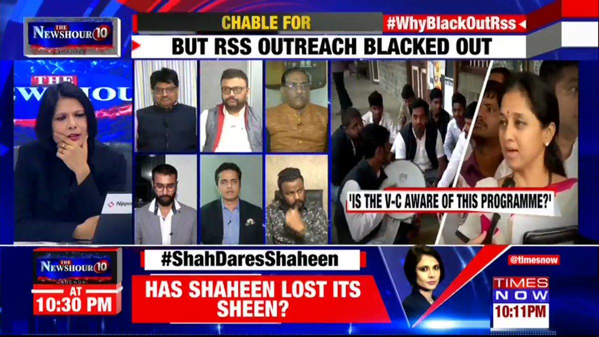 The Govt of Maharashtra is a liberal one: @samyrdalwai, Spokesperson NCP tells Padmaja Joshi on @thenewshour AGENDA. | #WhyBlackOutRSS