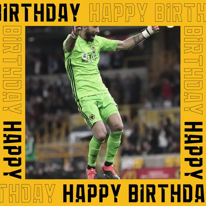 Wishing a very happy birthday to Rui Patricio! Our keeper turns 32 today!