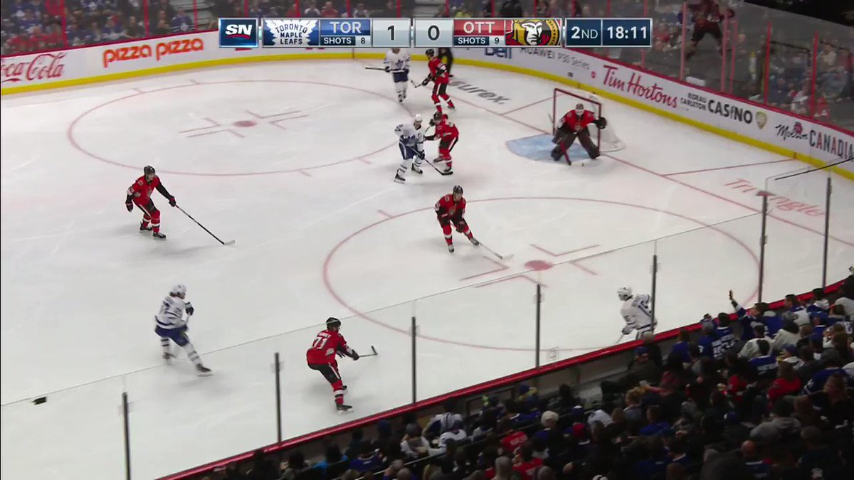 Timothy Liljegren picks up his first NHL point with an assist on this goal by Jake Muzzin. 🍏