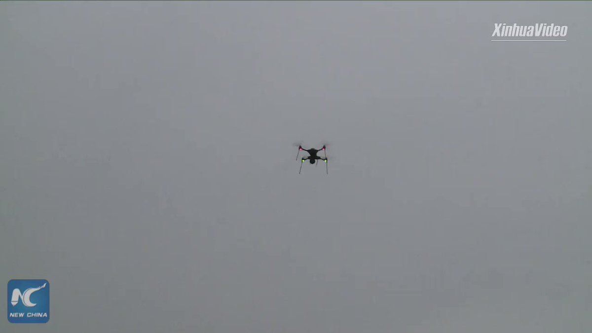 Drones have joined fight against novel #coronavirus in China. Equipped with thermal imaging technology, they can detect those with a fever up in the air