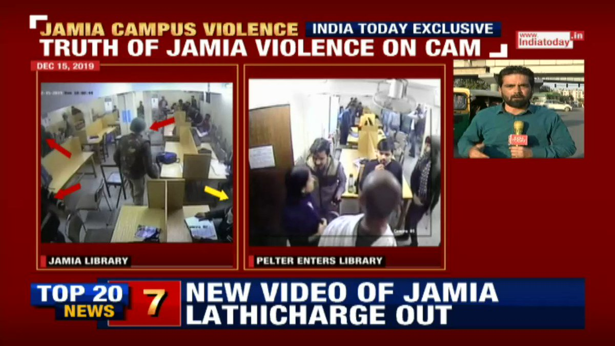 The reality of Jamia students. What kind of students enter library with stones? Why are they closing the doors? Library is a place to study or hide after perpetrating violence on streets? #JamiaViolence