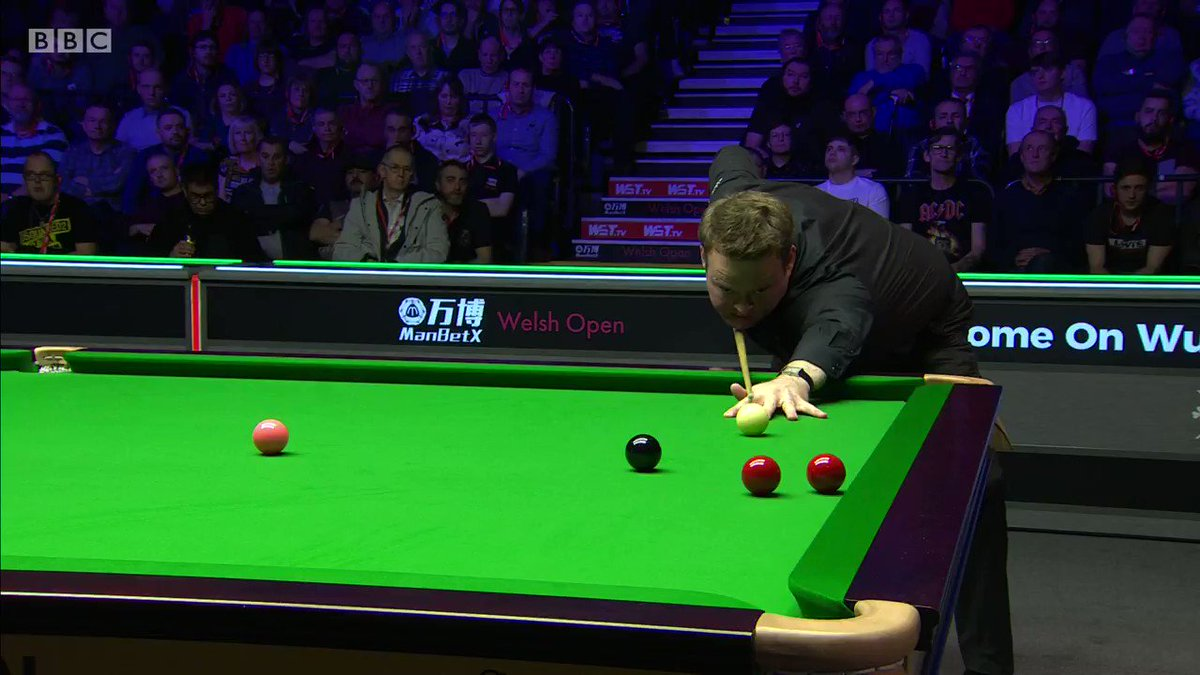 ➡️ Shaun Murphy has picked up from where he left off and is now just one frame away from claiming the Welsh Open title📺 BBC Two Wales 👉http://bbc.in/39tL2KS#bbcsnooker