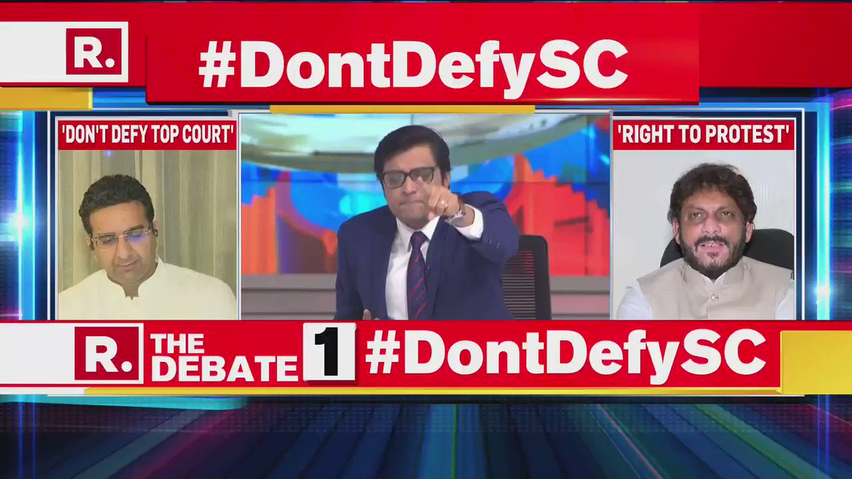 #DontDefySC | The SC has said that yes the right to protest is there but protesters need to understand boundaries. SC asked why not protest at the designated site and creating inconvenience to people: @gauravbh - National Spokesperson, BJP & Sr Advocate, SC