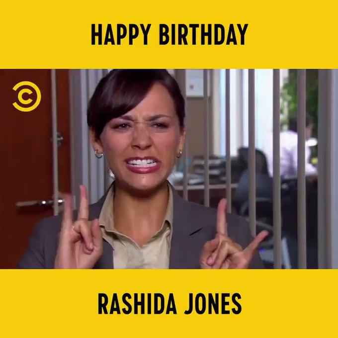 "\""CALL OF DUTY!\"" Happy Birthday Rashida Jones"