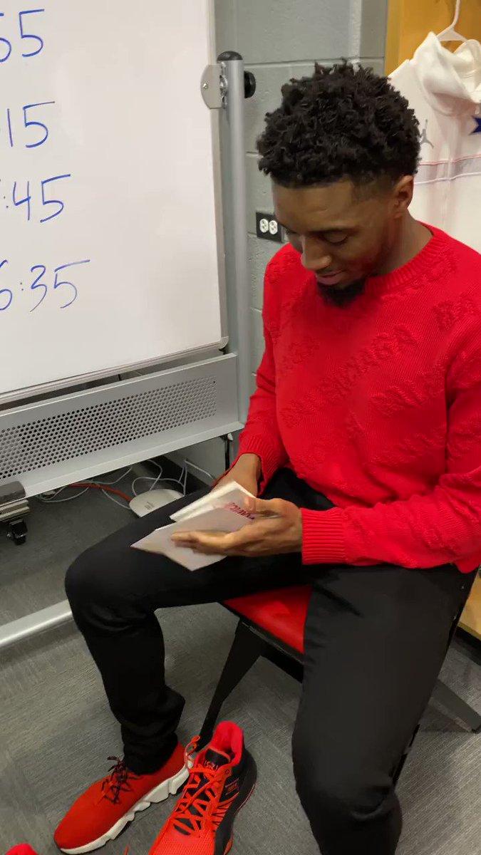 "Noah from @AftrSchoolMttrs to @spidadmitchell: ""We had the best handshake!""   #NBACaresAS20 #NBAAllStar"