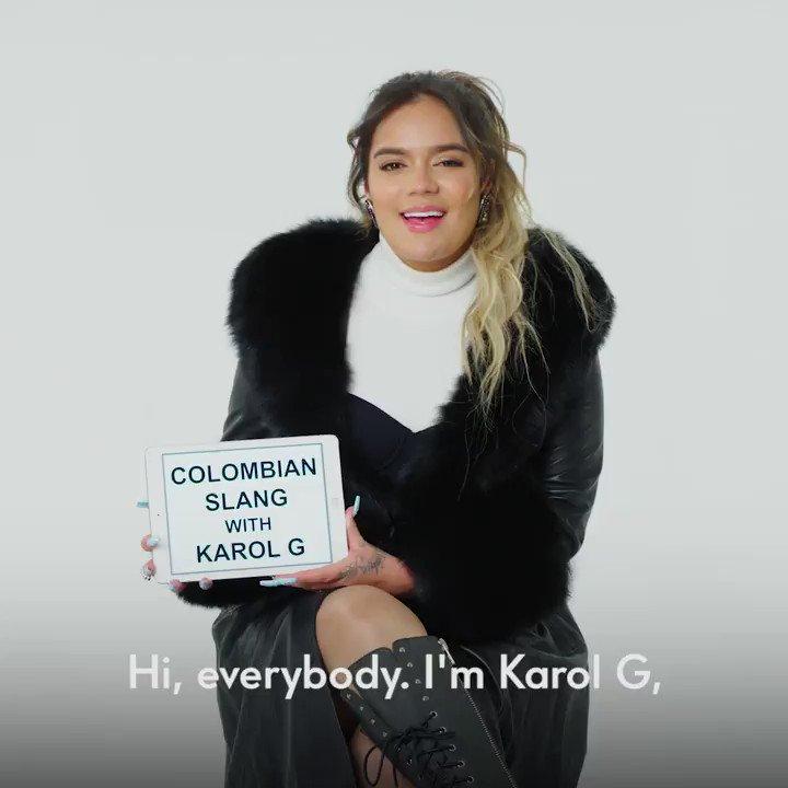 Singer @KAROLG schools us on her knowledge of Colombian slang: vntyfr.com/oXcRbmw