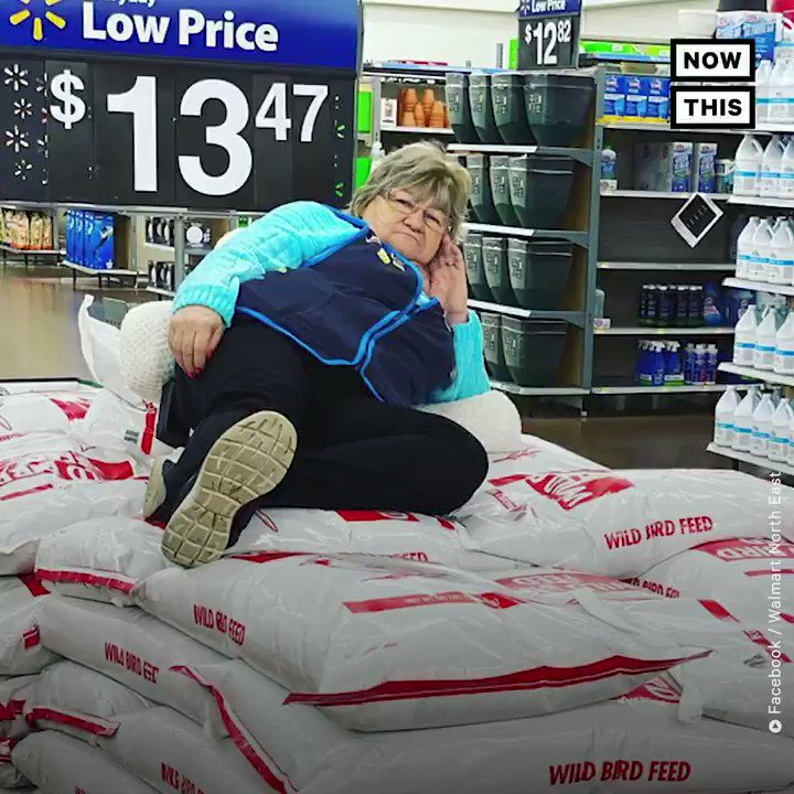 This Walmart employee is going viral for her 🔥 poses and deadpan demeanor