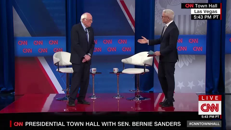 Sen. Bernie Sanders, who had a heart attack last year, tells @andersoncooper that he doesn't think he will release any more medical records than he already has. #cnntownhall